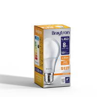 LED Leuchtmittel E27 8 Watt | A60 | 650 Lumen warmweiß (3000 K)
