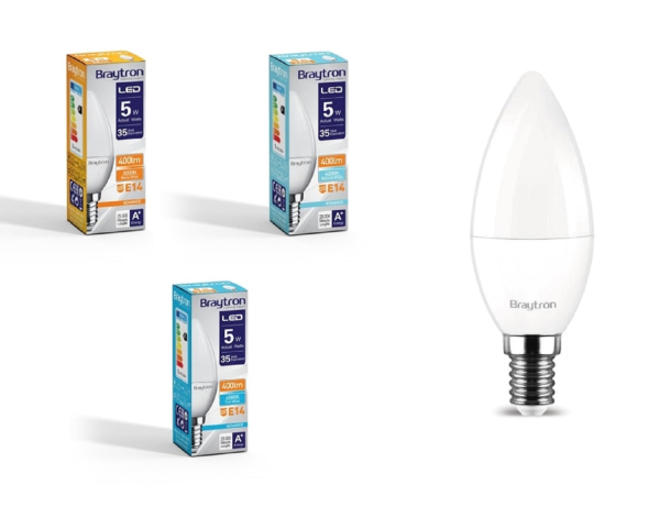 LED Leuchtmittel E14 Kerze C35 5 Watt matt | 400 Lumen