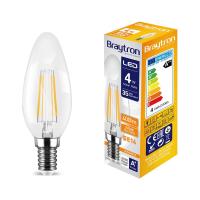 LED Leuchtmittel E14 Filament Kerze C35 4W | 400 Lumen...