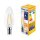 LED Leuchtmittel E14 Filament Kerze C35 4W   400 Lumen   warmweiß (2700 K)