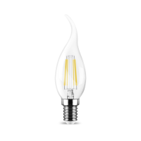 LED Leuchtmittel E14 Filament Flamme C35T 4W | 400 Lumen...