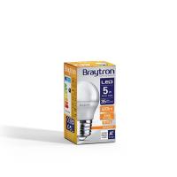 LED Leuchtmittel E27 5 Watt   Kugel G45   400 Lumen warmweiß (3000 K)