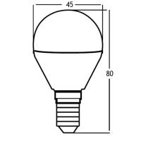 LED Leuchtmittel E14 Kugel P45 5 Watt matt   400 Lumen warmweiß (3000 K)