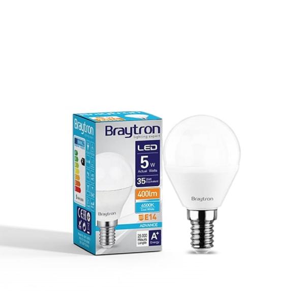 LED Leuchtmittel E14 Kugel P45 5 Watt matt | 400 Lumen kaltweiß (6400 K)