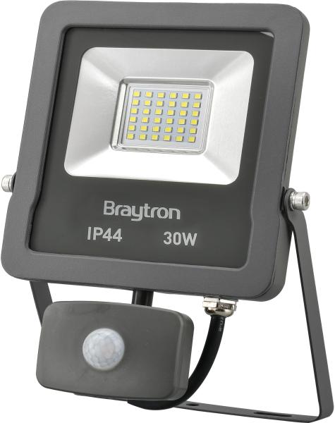LED Flutlichtstrahler mit Bewegungsmelder IP44 30 Watt   2400 Lumen kaltweiß (6500 K)