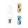 10er Sparpack | LED Leuchtmittel E14 Kerze C35 5 Watt | matt | 400 Lumen