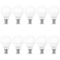 10er Sparpack | LED Leuchtmittel E14 Kugel P45 5 Watt matt | 380 Lumen kaltweiß (6400 K)