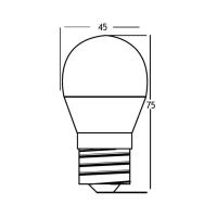 10er Sparpack   LED Leuchtmittel E27 5 Watt   Kugel G45   400 Lumen warmweiß (3000 K)