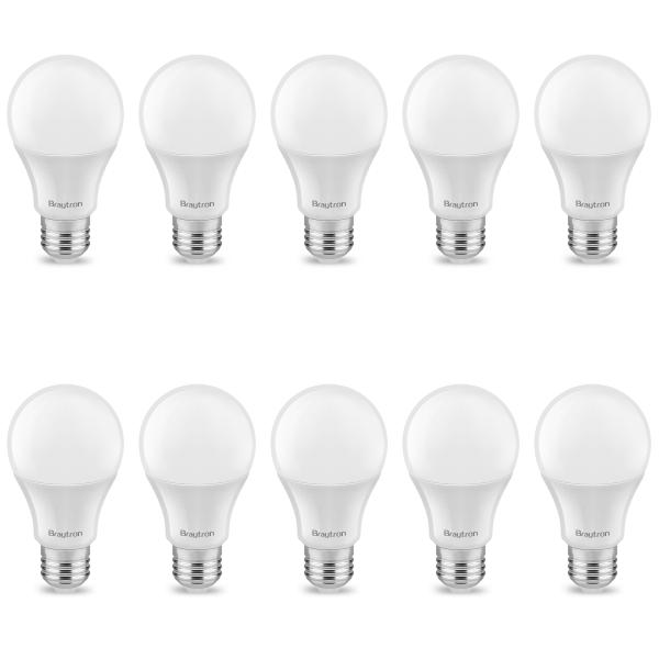 10er Sparpack   LED Leuchtmittel E27 5 Watt   A60   400 Lumen warmweiß (3000 K)