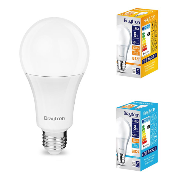 10er Sparpack | LED Leuchtmittel E27 8 Watt | A60 | 650 Lumen warmweiß (3000 K)