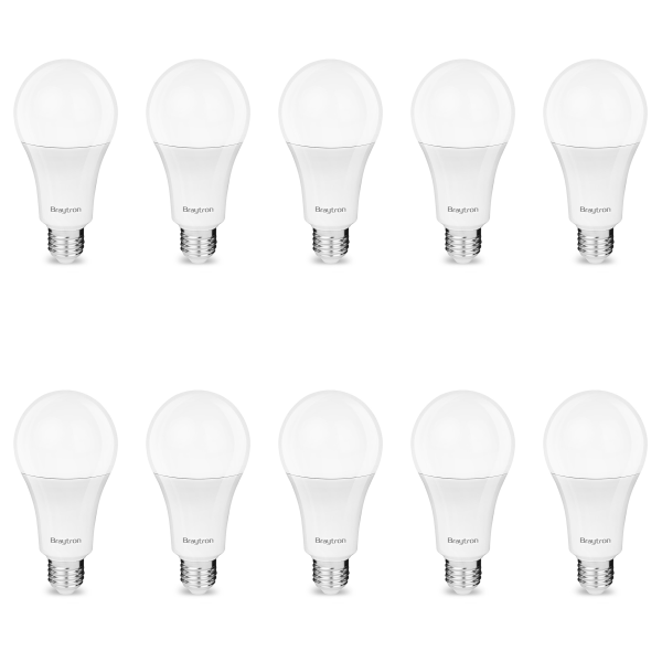 10er Sparpack   LED Leuchtmittel E27 10 Watt   A60   820 Lumen kaltweiß (6400 K)