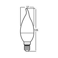 10er Sparpack   LED Leuchtmittel E14 Flamme C35T 5 Watt   matt   400 Lumen   370 Lumen