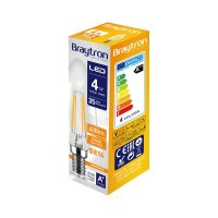 10er Sparpack | LED Leuchtmittel E14 Kerze C35 4W Filament | 400 Lumen | warmweiß (2700 K)