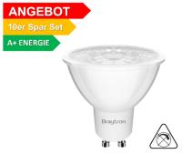 10er Sparpack   LED Leuchtmittel GU10 COB 5W   38°   360 Lumen warmweiß (3000 K)