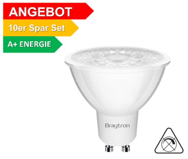 10er Sparpack | LED Leuchtmittel GU10 COB 5W | 38° | 360 Lumen kaltweiß (6500 K)