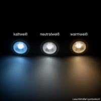 10er Sparpack | LED Leuchtmittel GU10 COB 7W | 38° | 550 Lumen kaltweiß (6500 K)
