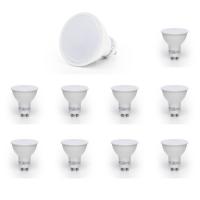 10er Sparpack | LED Leuchtmittel GU10 SMD 7W | 120° | 550 Lumen kaltweiß (6500 K)