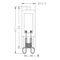 10er Sparpack | LED Leuchtmittel G9 | 2 Watt | 230V | 240 Lumen | warmweiß (3000 K)
