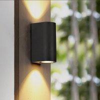 LED Wandleuchte RITA 2-flammig | anthrazit | GU10