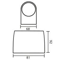LED Wandleuchte RITA 1-flammig | weiß | 5 Watt