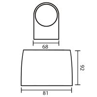 LED Wandleuchte RITA 1-flammig | anthrazit | 5 Watt