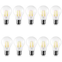 10er Sparpack | LED Leuchtmittel Filament E27 Standard (A60) 6 Watt | 600 Lumen kaltweiß (6500 K)