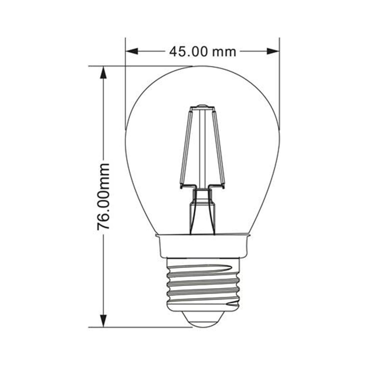 4 Watt LED E14 Leuchtmittel 2700 Kelvin Leuchte 400 Lumen Lampe warmweiß EEK A+