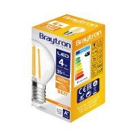LED Leuchtmittel E27 4 Watt   Filament   Kugel G45   400 Lumen   warmweiß (2700 K)