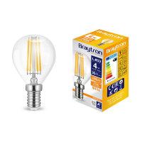 LED Leuchtmittel E14 Filament Kugel P45 4 Watt | 400...