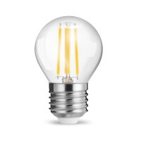 10er Sparpack | LED Leuchtmittel Filament E27 Kugel 4 Watt | 400 Lumen | warmweiß (2700 K)