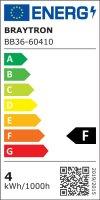 LED Leuchtmittel E14 Filament Kerze | Bernstein | C35 4W | dimmbar | 360 Lumen | warmweiß (2200 K)