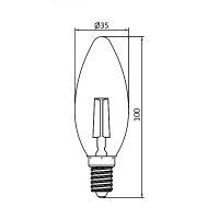 10er Sparpack | LED Leuchtmittel E14 Kerze | Bernstein | C35 4W Filament | dimmbar | 360 Lumen | warmweiß (2200 K)