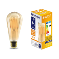 LED Leuchtmittel Filament E27 Kegel DIMMBAR (ST64) 6 Watt...