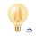 LED Leuchtmittel Filament E27 Kugel Globe (G95, 95mm Durchmesser) 6 Watt | dimmbar | 515 Lumen | warmweiß (2200 K)