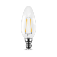 LED Leuchtmittel E14 Filament Kerze klar C35 4W | dimmbar...