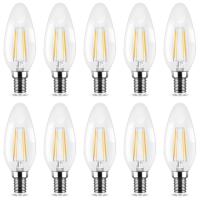 10er Sparpack | LED Leuchtmittel E14 Kerze | klar | C35...