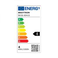 10er Sparpack   LED Leuchtmittel E14 Kerze   klar   C35 4W Filament   DIMMBAR   400 Lumen warmweiß (2700 K)