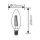 10er Sparpack | LED Leuchtmittel E14 Kerze | klar | C35 4W Filament | dimmbar | 470 Lumen | warmweiß (2700 K)