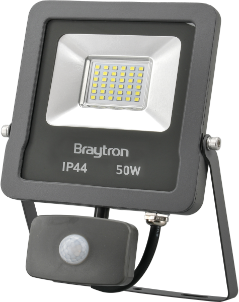 LED Flutlichtstrahler mit Bewegungsmelder IP44 50 Watt  warmweiß (3000 K)