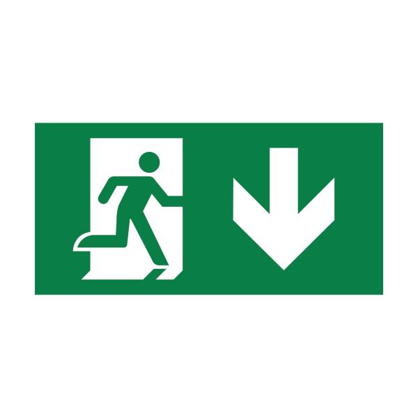 LED Notbeleuchtung | Notwegebeleuchtung | Notausgangsschild | Akkubetrieb | Exit geradeaus