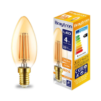 10er Sparpack | LED Leuchtmittel E14 Kerze | bernstein |...