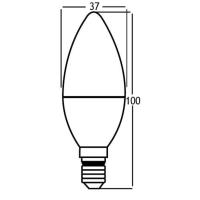 LED Leuchtmittel E14 Kerze C35 5 Watt matt   400 Lumen neutralweiß (4200 K)