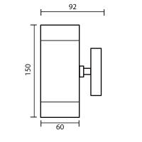 LED Wandleuchte RITA-S 2-flammig | Edelstahl | GU10