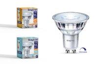 10er Sparpack LED Leuchtmittel GU10 Glas 5,5 W | dimmbar...