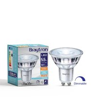 10er Sparpack LED Leuchtmittel GU10 Glas 5,5 W | dimmbar | 360 Lumen