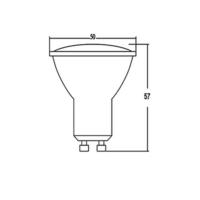 10er Sparpack LED Leuchtmittel GU10 Glas 5,5 W | dimmbar | 360 Lumen neutralweiß (4200 K)
