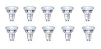 10er Sparpack LED Leuchtmittel GU10 Glas 4,8 W   360 Lumen warmweiß (2700 K)