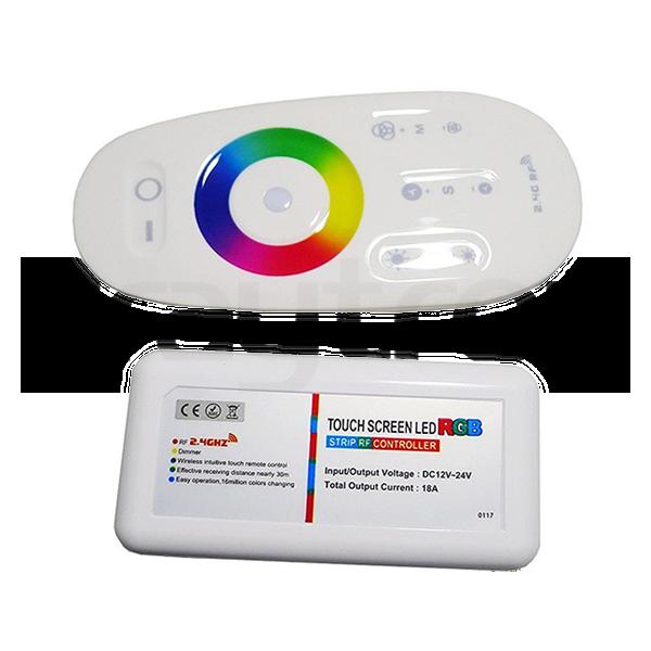 LED RGB Controller mit Fernbedienung 216 Watt | 12/24 VDC