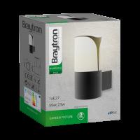 LED Wandleuchte MILANO E27 | IP44 | grau